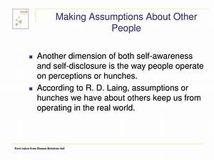 PPT - SELF-AWARENESS AND SELF-DISCLOSURE PowerPoint ...