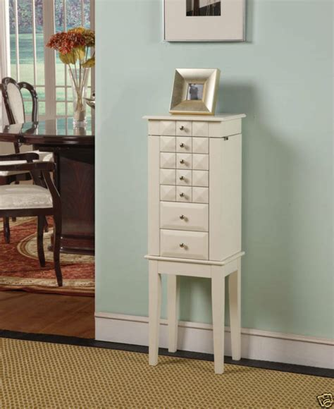 White Jewelry Armoire by 6 Drawer Jewelry Armoire White Ebay
