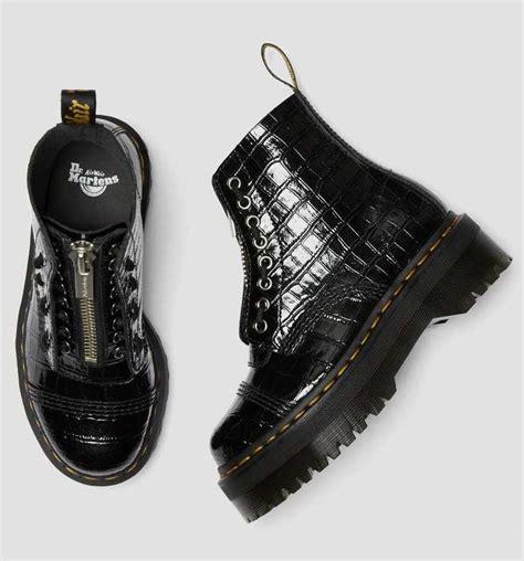 de populaire dr martens sinclair boots zijn er nu ook  krokodillen variant