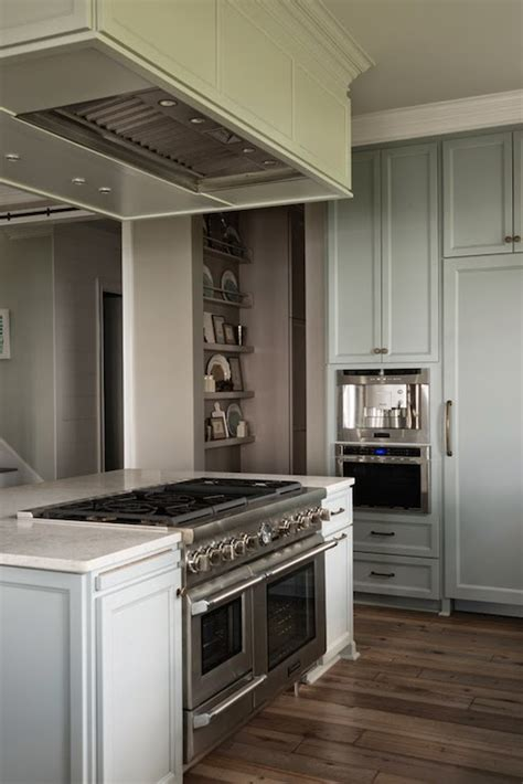 hood  kitchen island transitional kitchen benjamin moore waynesboro taupe reu architects