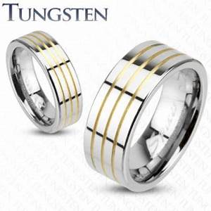 tungsten wedding ring With fox wedding ring