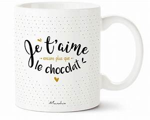 mug je t39aime encore plus que le chocolat commentseruiner With affiche chambre bébé avec livraison fleurs et chocolats Ï domicile