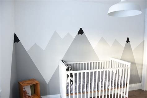 Decorating A Nursery by How To Paint A Diy Mountain Mural No Art Skills Required