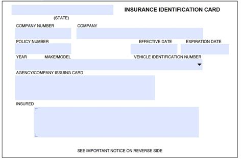 blank geico insurance card template