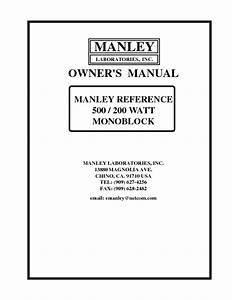 500    200 Watt Monoblock Amplifier Manuals