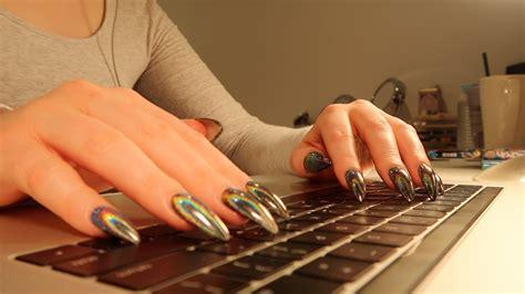typing  macbook pro keyboard   mins  talking asmr