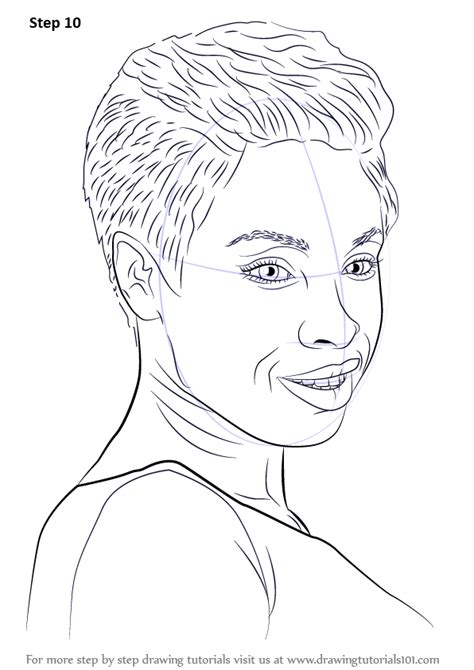 learn   draw jennifer hudson celebrities step