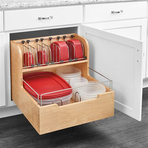 kitchen storage base cabinet pullout food storage