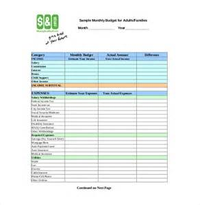 Excel Expenses Template Uk by Personal Budget Template 10 Free Word Excel Pdf