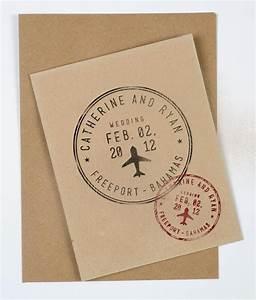 passport wedding stamp personalized destination wedding With personalised wedding invitations etsy