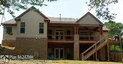 craftsman house plan  sloping lot hh