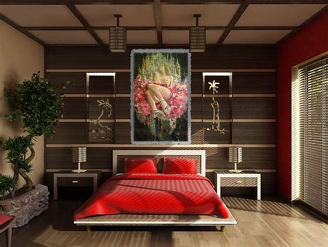 Stupendous Asian Themed Bedroom With Feng Shui Furniture
