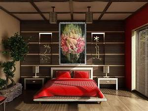 good feng shui for colorful retro bedroom decoration ideas With decoration feng shui chambre