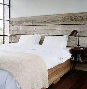 Deco Mur En Bois Planche : 10 astuces d co pas ch res pour fabriquer une t te de lit ~ Dailycaller-alerts.com Idées de Décoration
