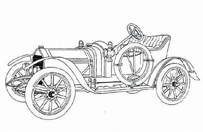 Coloring Classic Draw Royce Rolls Template Sketch
