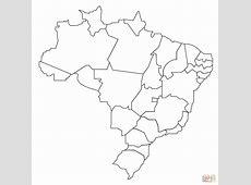 Karte von Brasilienschwarz und weiß Schwarze und weiße