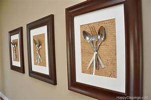 Diy silverware wall art