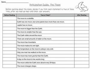 Anticipation Guide For The Moon  Theorganizedclassroomblog