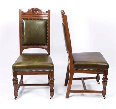 vintage walnut dining room set antique set of 16 walnut dining chairs circa 8847