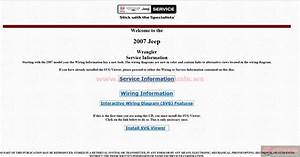 Jeep Wrangler Jk 2007 Factory Service Manual