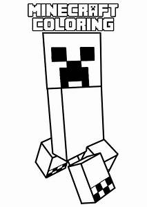 Minecraft Coloring Creeper Coloring Pages For Kids