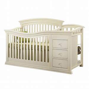 Sorelle Verona Crib and Changer in French White - Crib N