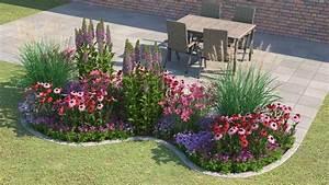 Beet Vor Terrasse Anlegen : ein blumenbeet vor einem haus gartenideen pinterest garten garten ideen und garten pflanzen ~ Markanthonyermac.com Haus und Dekorationen