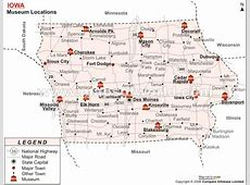 List of Museums in Iowa Iowa Museum Map
