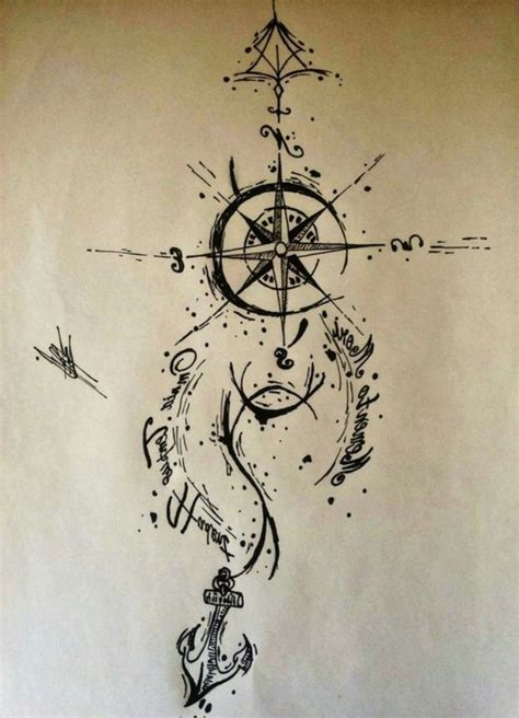 anker kompass anker vorlage 35 kompass tattoos zum