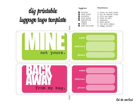 diy printable luggage tags