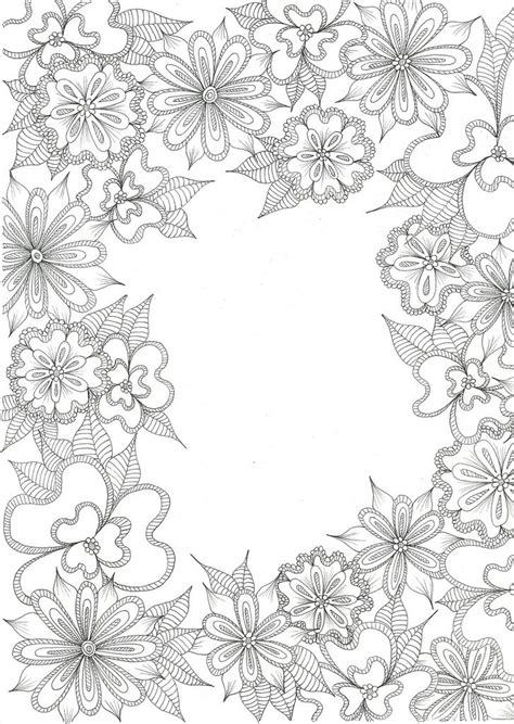 blank slate flower coloring pages coloring pages  grown ups cute coloring pages