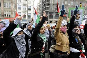 Protest against the Gaza flotilla raid held in Amsterdam ...