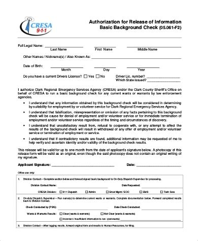 Background Check For Employers Employment Background Check Forms Employer Criminal
