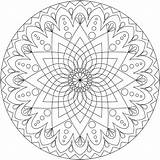 Coloring Mandala Pages Adults Comments sketch template
