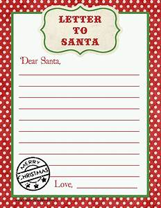 letter to santa free printable download With a letter to santa for free
