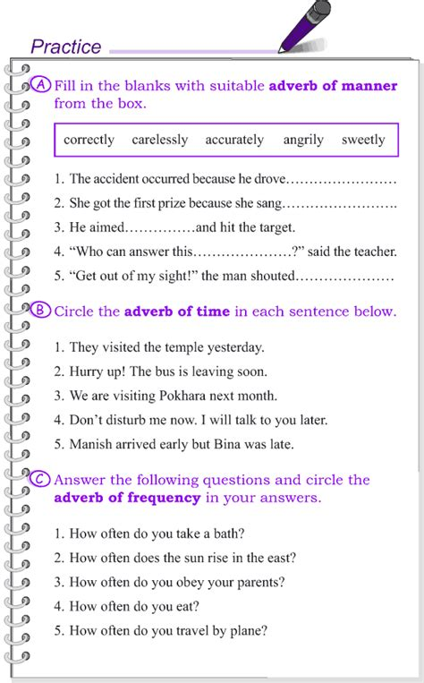 grade 4 grammar lesson 11 kinds of adverbs lngles