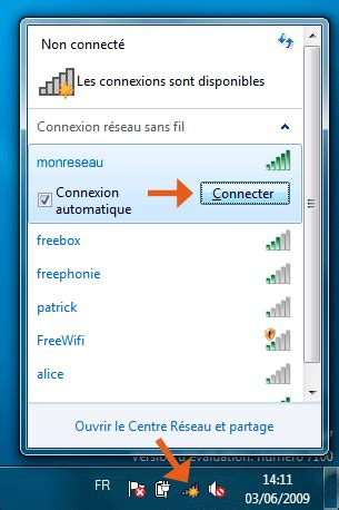 connecter un pc de bureau en wifi windows 7 seven comment se connecter au wifi sans fil