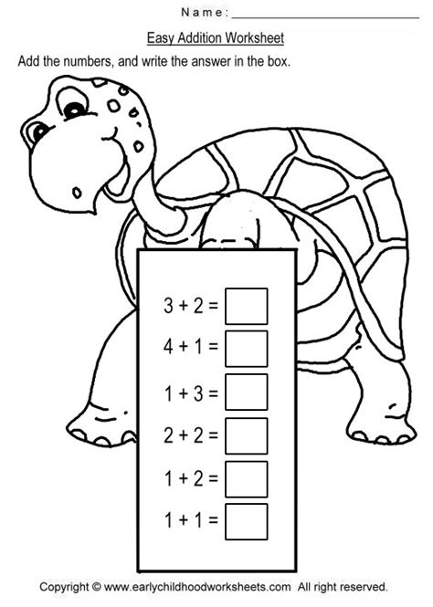 Simple Addition Worksheet For Kindergarten Worksheets For All  Download And Share Worksheets