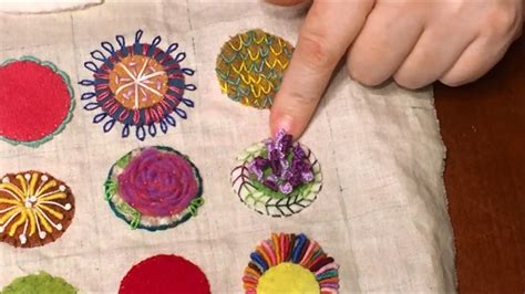 flystitch  embroidery youtube