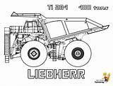 Coloring Truck Construction Dump Pages Liebherr Trucks Tractor Hard Yescoloring Farm Equipment Printable Road Mining Rock Sheet Ti Printables Tons sketch template