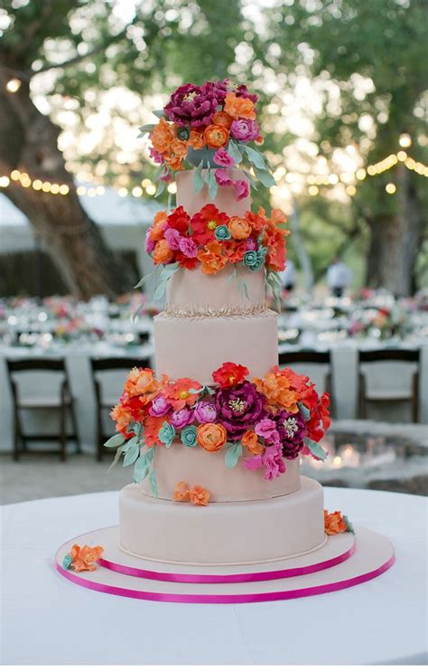 700 Best Images About Colorful Wedding Cakes On Pinterest