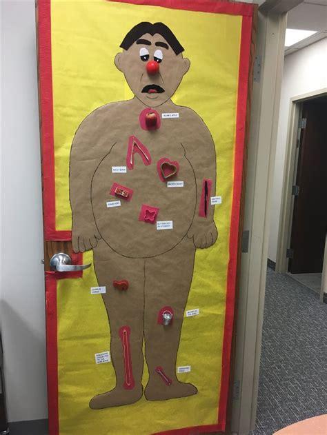 door decoration operation game halloween classroom door