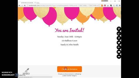 create  simple email invitation youtube
