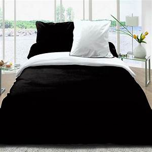 Housse Couette 240x260 : achat housse de couette 100 coton 240x260 noir blanc pas cher ~ Teatrodelosmanantiales.com Idées de Décoration