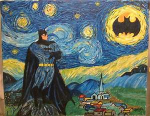 Calling On Batman On A Beautiful Starry Night By Sophiyou