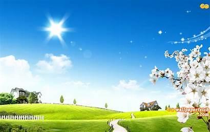 Nature Wallpapers Desktop Widescreen Wide Fetch Sunshine