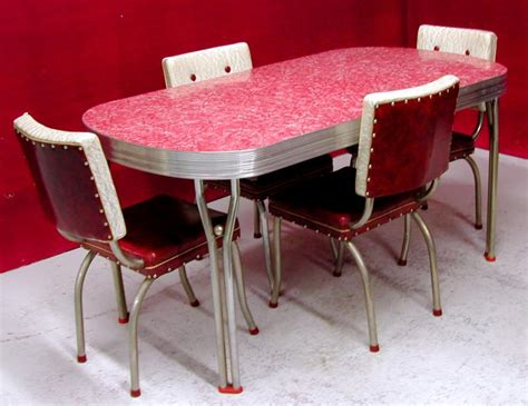table cuisine retro chrome and formica dining sets 1950 s ca 1950s dining