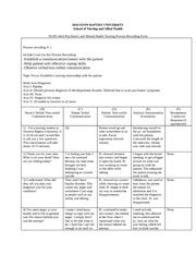 process recording template do not put the patients name or initials on process recording interaction