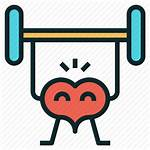 Icon Fitness Workout Clipart Exercise Healthy Heart