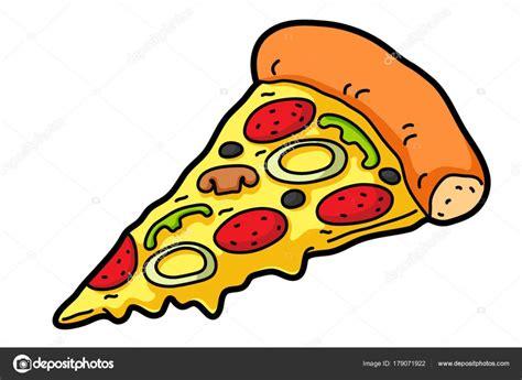 Vector Cartoon Pizza Slice